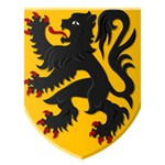 Flanders Coat of Arms  Miss You 3D Greeting Card (7x5) Inside