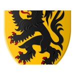 Flanders Coat of Arms  Miss You 3D Greeting Card (7x5) Back