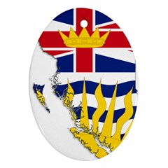 Flag Map Of British Columbia Ornament (oval)  by abbeyz71