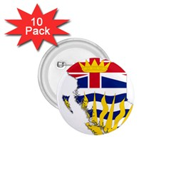 Flag Map Of British Columbia 1 75  Buttons (10 Pack) by abbeyz71