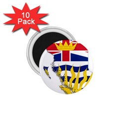 Flag Map Of British Columbia 1 75  Magnets (10 Pack)  by abbeyz71