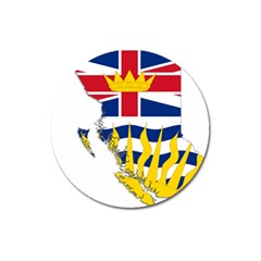 Flag Map Of British Columbia Magnet 3  (round) by abbeyz71