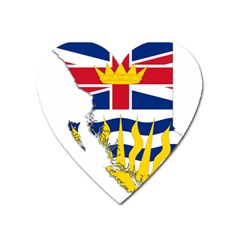 Flag Map Of British Columbia Heart Magnet by abbeyz71