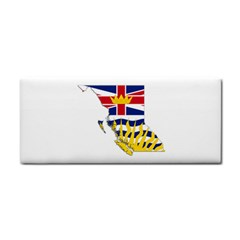 Flag Map Of British Columbia Hand Towel by abbeyz71