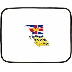 Flag Map Of British Columbia Double Sided Fleece Blanket (mini)  by abbeyz71