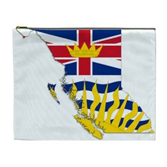 Flag Map Of British Columbia Cosmetic Bag (xl) by abbeyz71