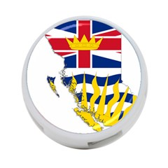 Flag Map Of British Columbia 4 Port Usb Hub (two Sides)  by abbeyz71