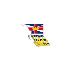 Flag Map Of British Columbia Shower Curtain 48  X 72  (small)  by abbeyz71