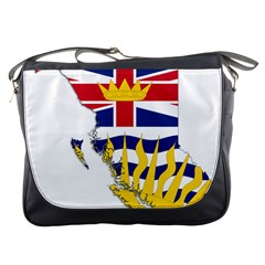 Flag Map Of British Columbia Messenger Bags by abbeyz71