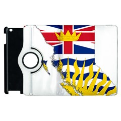 Flag Map Of British Columbia Apple Ipad 3/4 Flip 360 Case by abbeyz71