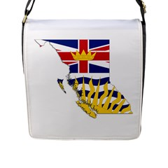 Flag Map Of British Columbia Flap Messenger Bag (l)  by abbeyz71