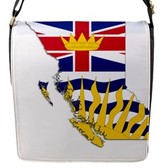Flag Map Of British Columbia Flap Messenger Bag (s) by abbeyz71