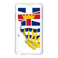 Flag Map Of British Columbia Samsung Galaxy Note 3 N9005 Case (white) by abbeyz71