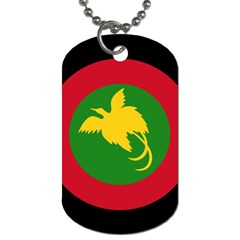 Roundel Of Papua New Guinea Air Operations Element Dog Tag (two Sides) by abbeyz71