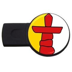 Flag Of Nunavut  Usb Flash Drive Round (2 Gb)  by abbeyz71