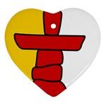 Flag of Nunavut  Heart Ornament (2 Sides) Back