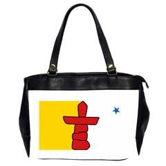 Flag Of Nunavut  Office Handbags (2 Sides)  by abbeyz71