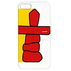 Flag Of Nunavut  Apple Iphone 5 Hardshell Case With Stand by abbeyz71