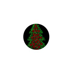 Sparkling Christmas Tree 1  Mini Magnets by Valentinaart