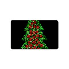 Sparkling Christmas Tree Magnet (name Card) by Valentinaart