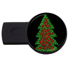 Sparkling Christmas Tree Usb Flash Drive Round (2 Gb)  by Valentinaart