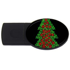 Sparkling Christmas Tree Usb Flash Drive Oval (2 Gb)  by Valentinaart