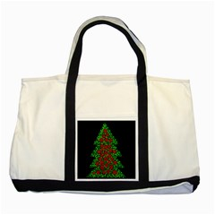 Sparkling Christmas Tree Two Tone Tote Bag by Valentinaart
