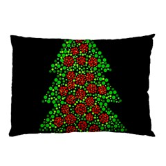 Sparkling Christmas Tree Pillow Case by Valentinaart