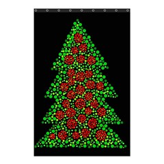 Sparkling Christmas Tree Shower Curtain 48  X 72  (small)  by Valentinaart