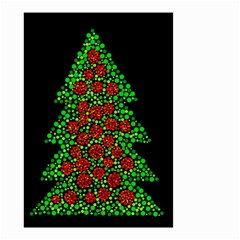 Sparkling Christmas Tree Small Garden Flag (two Sides) by Valentinaart