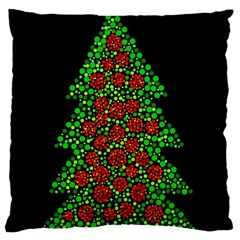 Sparkling Christmas Tree Large Cushion Case (one Side) by Valentinaart