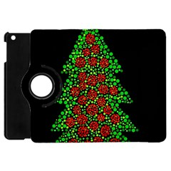 Sparkling Christmas Tree Apple Ipad Mini Flip 360 Case by Valentinaart