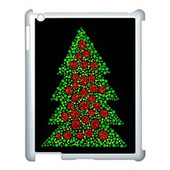 Sparkling Christmas Tree Apple Ipad 3/4 Case (white) by Valentinaart