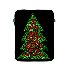 Sparkling Christmas Tree Apple Ipad 2/3/4 Protective Soft Cases by Valentinaart