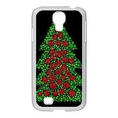 Sparkling Christmas Tree Samsung Galaxy S4 I9500/ I9505 Case (white) by Valentinaart