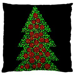 Sparkling Christmas Tree Standard Flano Cushion Case (one Side) by Valentinaart