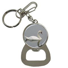 Swimming White Swan Bottle Opener Key Chains by picsaspassion