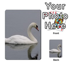 Swimming White Swan Multi Purpose Cards (rectangle)