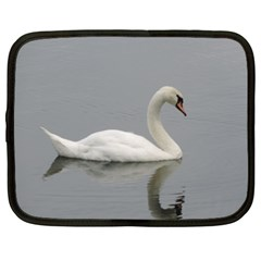 Swimming White Swan Netbook Case (xxl)  by picsaspassion