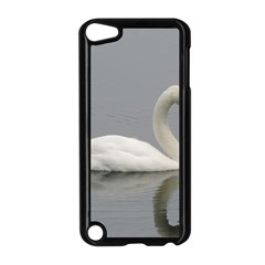 Swimming White Swan Apple Ipod Touch 5 Case (black) by picsaspassion