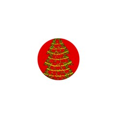 Sparkling Christmas Tree   Red 1  Mini Buttons by Valentinaart