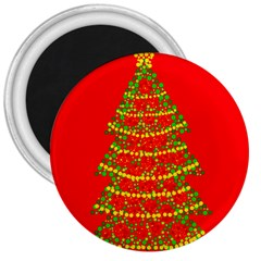 Sparkling Christmas Tree   Red 3  Magnets by Valentinaart