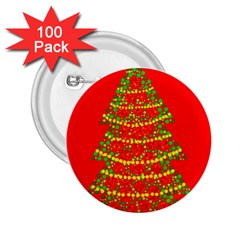 Sparkling Christmas Tree   Red 2 25  Buttons (100 Pack)  by Valentinaart