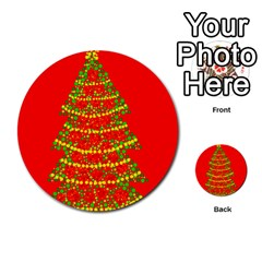 Sparkling Christmas Tree   Red Multi Purpose Cards (round)  by Valentinaart