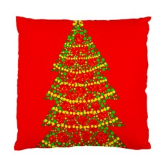 Sparkling Christmas Tree   Red Standard Cushion Case (one Side) by Valentinaart