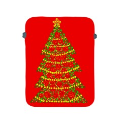 Sparkling Christmas Tree   Red Apple Ipad 2/3/4 Protective Soft Cases by Valentinaart