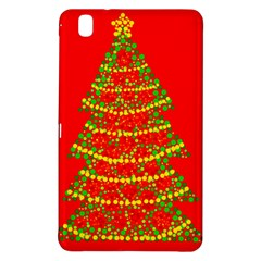 Sparkling Christmas Tree   Red Samsung Galaxy Tab Pro 8 4 Hardshell Case by Valentinaart