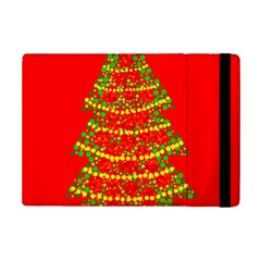 Sparkling Christmas Tree   Red Ipad Mini 2 Flip Cases by Valentinaart