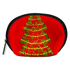 Sparkling Christmas Tree   Red Accessory Pouches (medium)  by Valentinaart