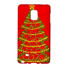 Sparkling Christmas tree - red Galaxy Note Edge by Valentinaart